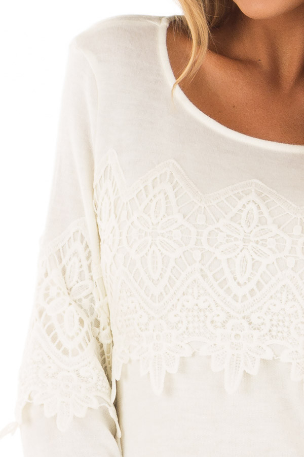 Cream Tunic with Lace Detail detail