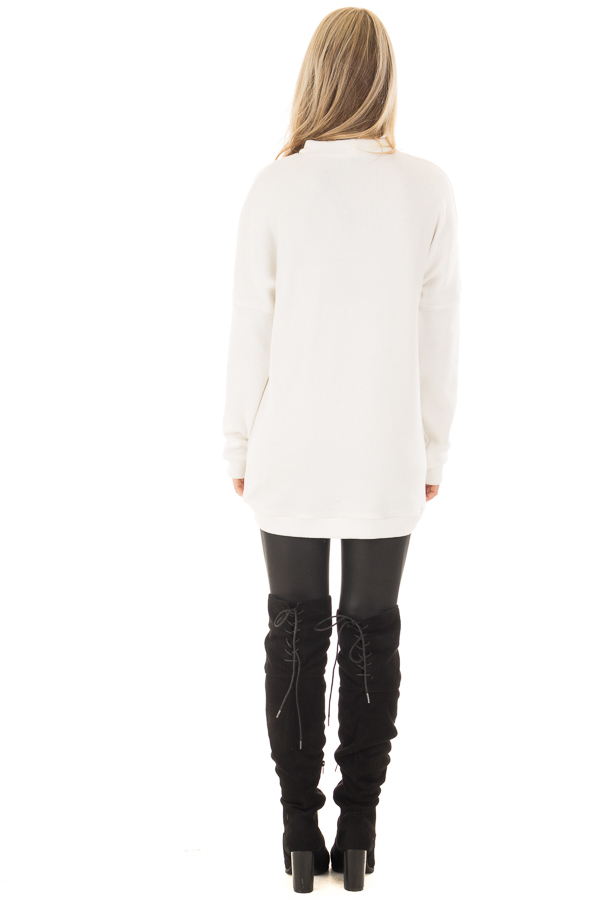 White Sweater with Chest Cutout back full body
