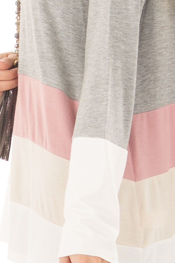 Heather Grey Color Block Top detail