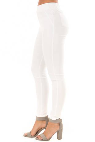 Off White High Waisted Leggings side view