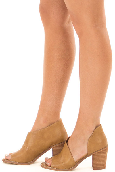 Carmel Peep Toe High Heel with Side Cutout side view