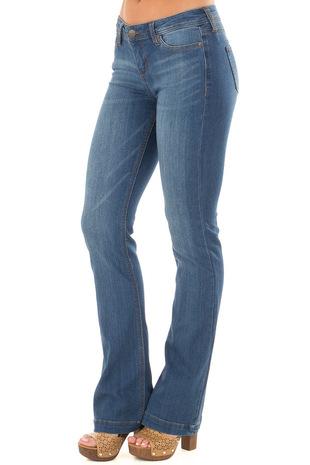 Medium Wash Kick Boot Jeans front side