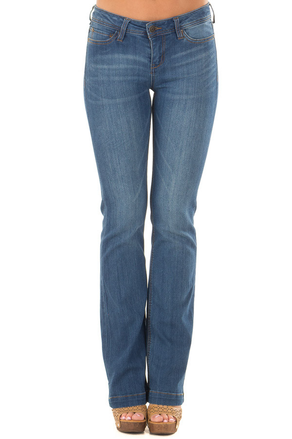 Medium Wash Kick Boot Jeans front