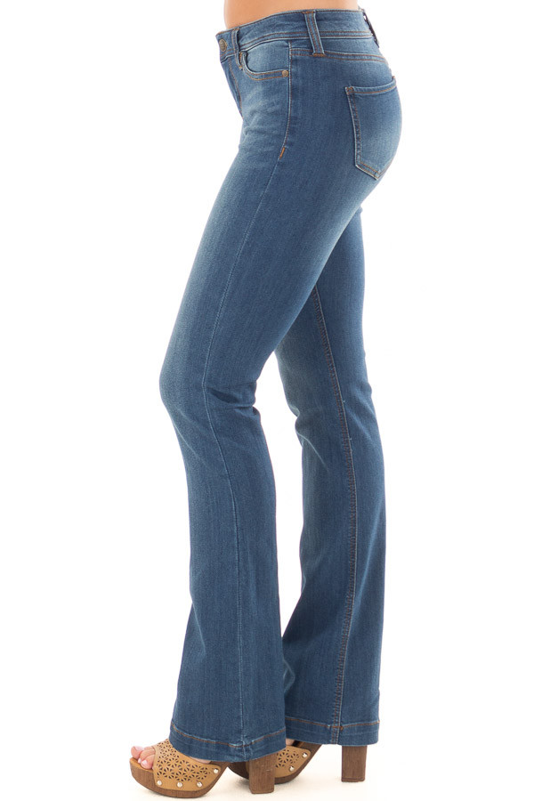 Medium Wash Kick Boot Jeans left side