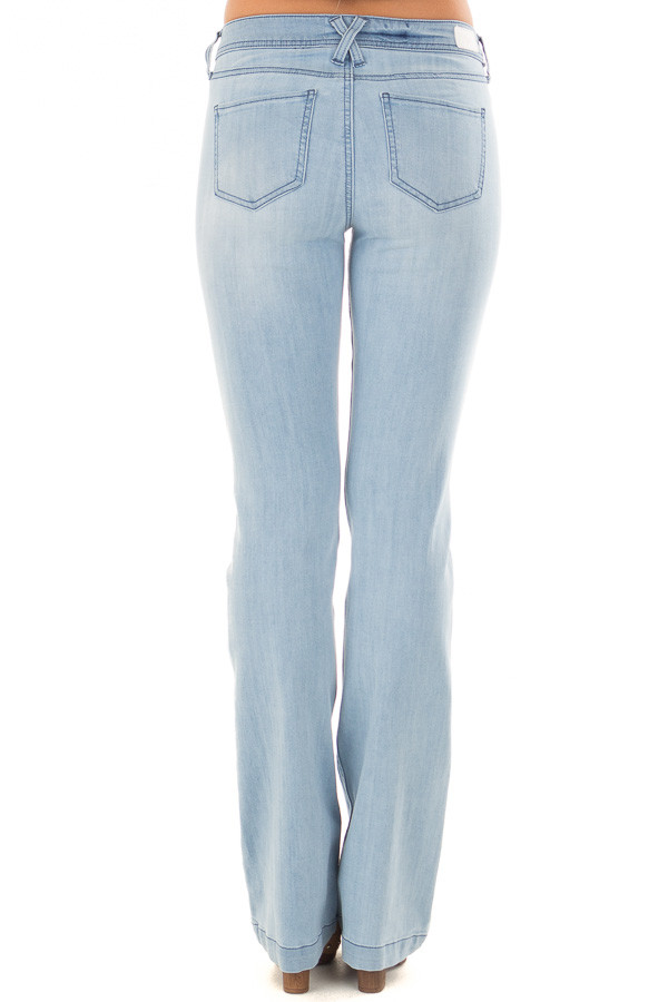 Light Wash Kick Boot Jeans back