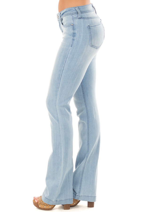 Light Wash Kick Boot Jeans left side