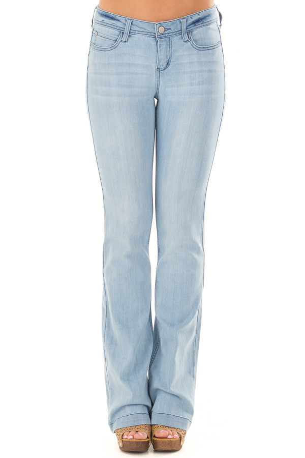 Light Wash Kick Boot Jeans front