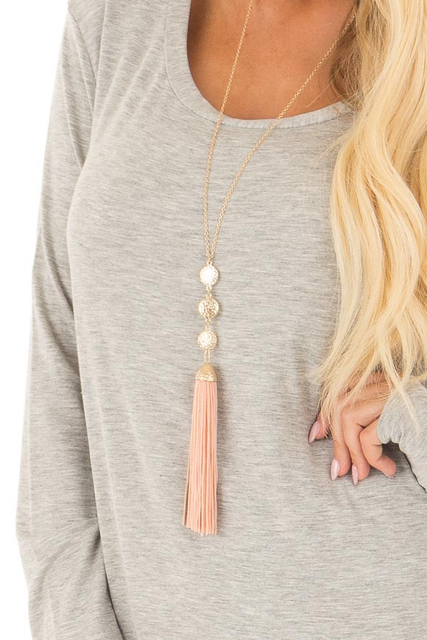 Heather Grey Long Sleeve Round Neck Top front detail