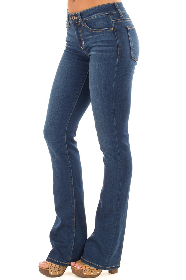 Dark Wash Bootcut Jeans front side view