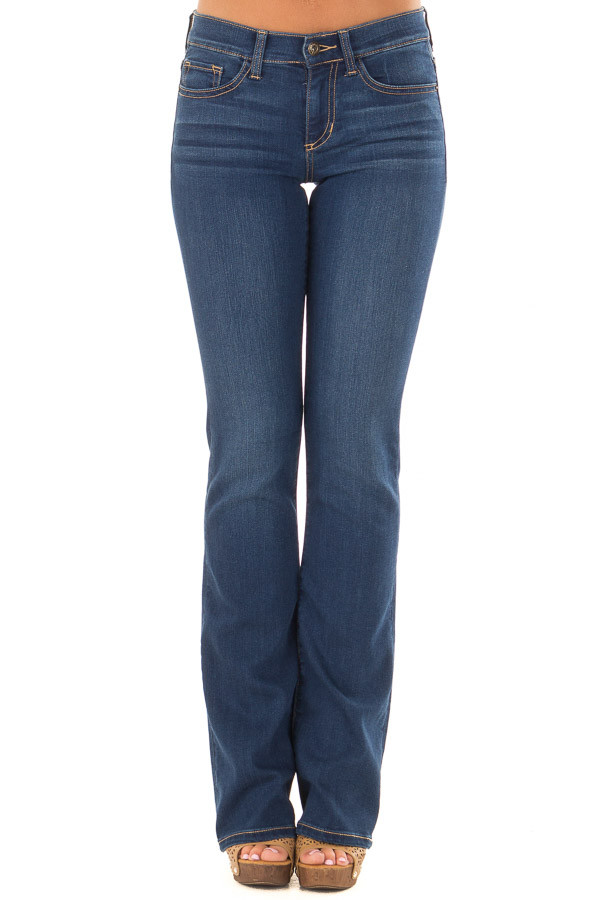 Dark Wash Bootcut Jeans front view