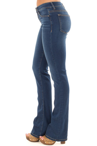 Dark Wash Bootcut Jeans side view