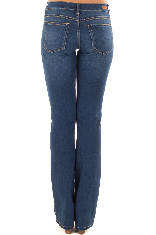 Dark Wash Bootcut Jeans back view