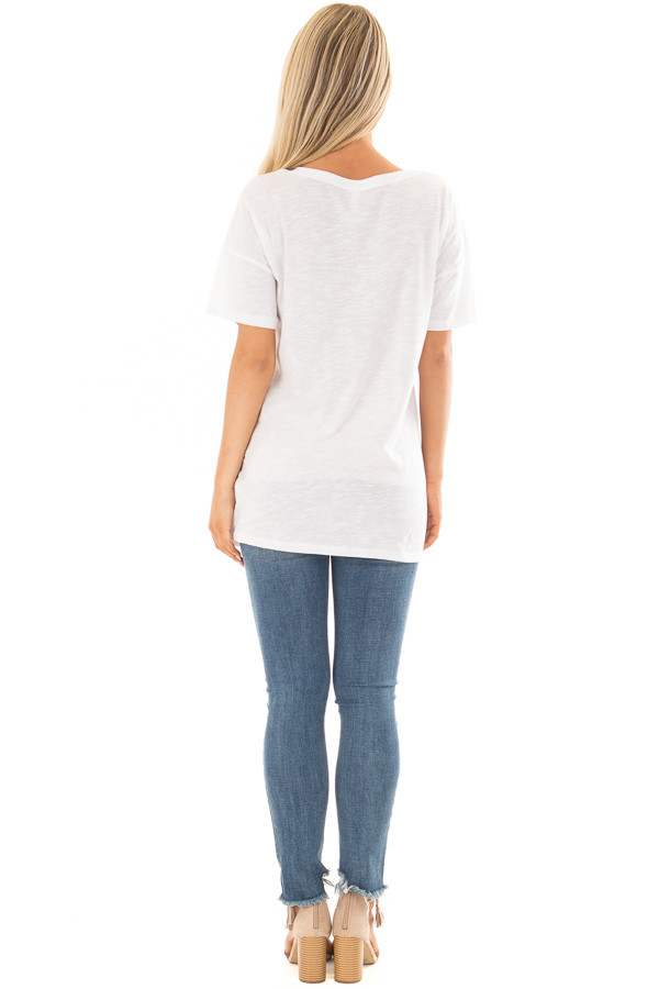 Off White 'Beach Hippie' Top with Chest Cutout back full body