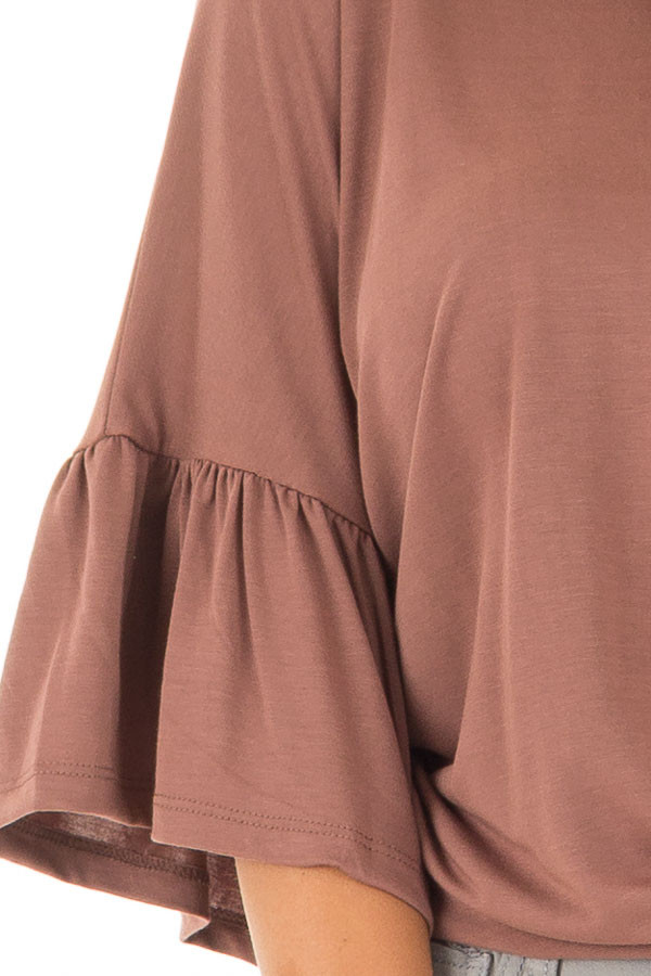 Burl Wood Oversized Comfy Top with Butterfly Sleeves detail
