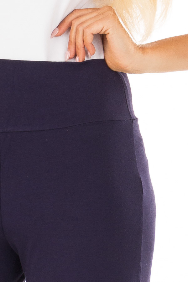 Navy Comfy Pants with Flared Leg detail