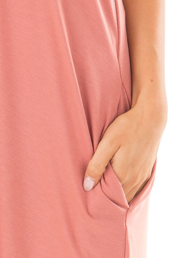 Ash Rose Sleeveless Cocoon Maxi Dress front detail