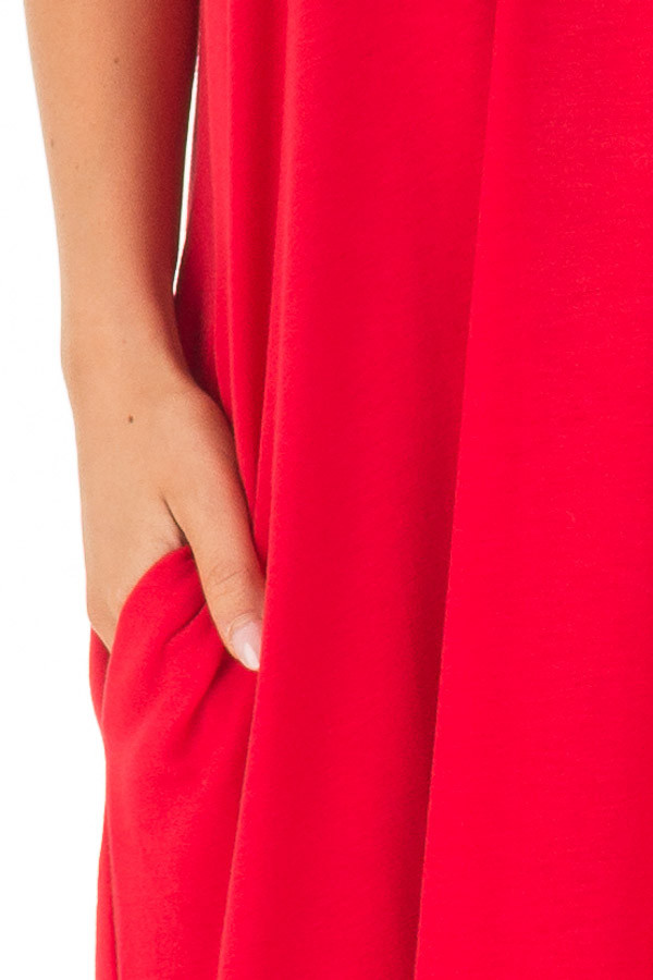 Ruby Sleeveless Cocoon Maxi Dress front detail