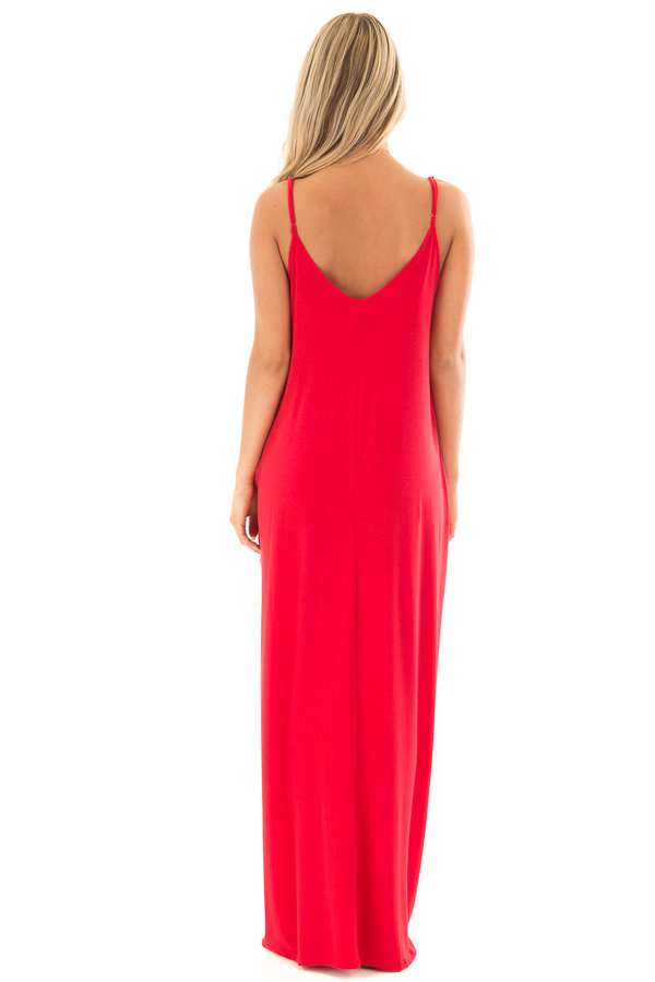 Ruby Sleeveless Cocoon Maxi Dress back full body