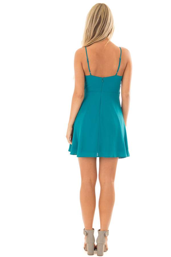 Jade Strappy Fit Flare Dress back full body