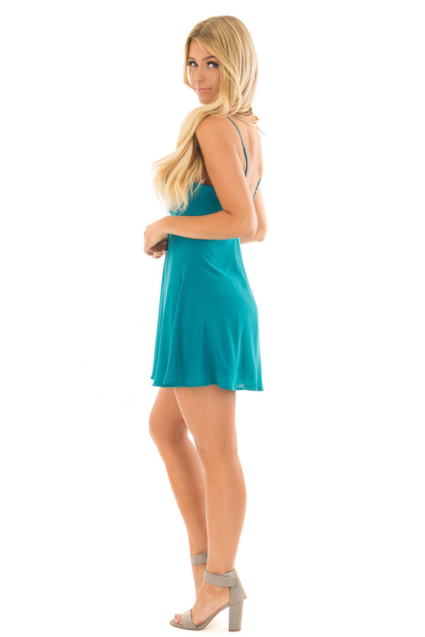 Jade Strappy Fit Flare Dress side full body