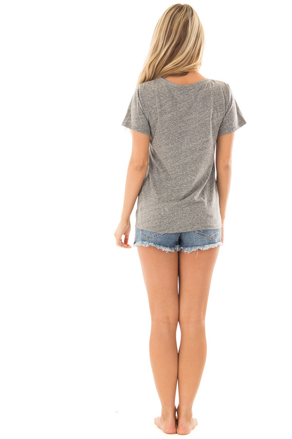 Charcoal Two Tone 'Champagne Campaign' Top back full body