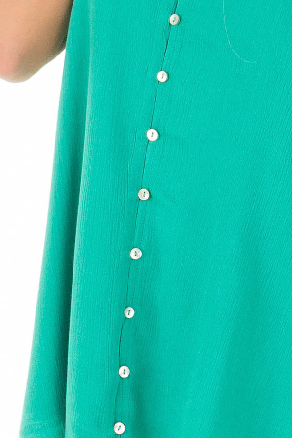 Jade Button Up Tank Top detail