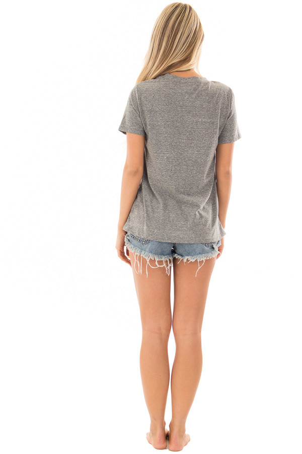 Charcoal 'Peachy' Short Sleeve T Shirt back full body