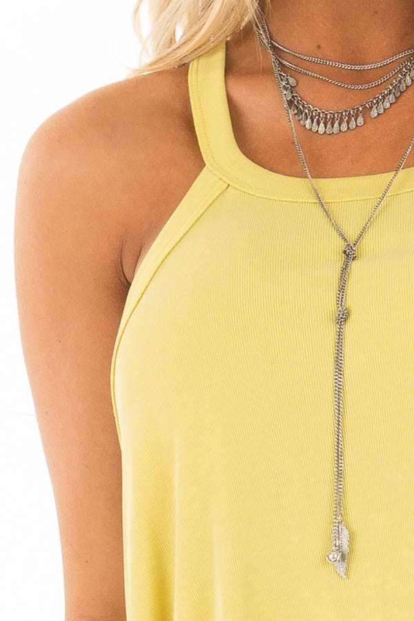 Sunflower Flowy Soft Knit Tank Top detail