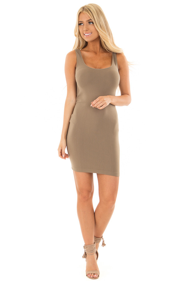 Ivy Seamless Tank Dress Undergarment front full body