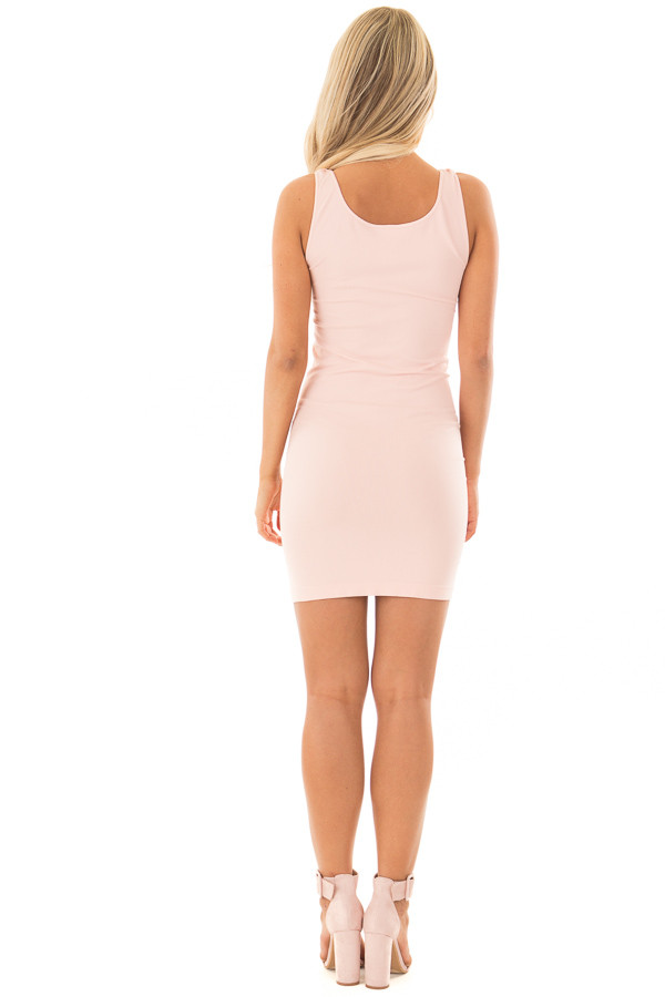 Blush Seamless Tank Dress Undergarment back full body