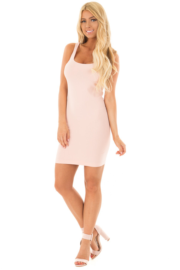 Blush Seamless Tank Dress Undergarment front full body