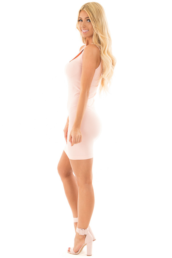 Blush Seamless Tank Dress Undergarment side full body