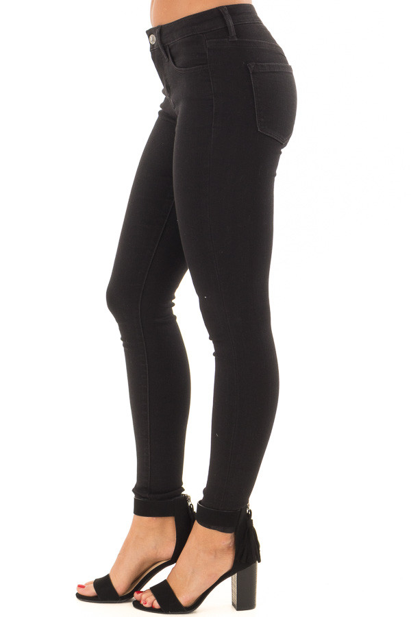 Black Ivy Mid Rise Ankle Skinny Jeans side view