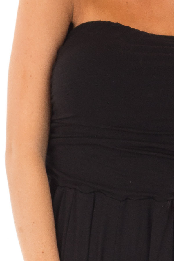 Black Sleeveless Jumpsuit with Pockets detail
