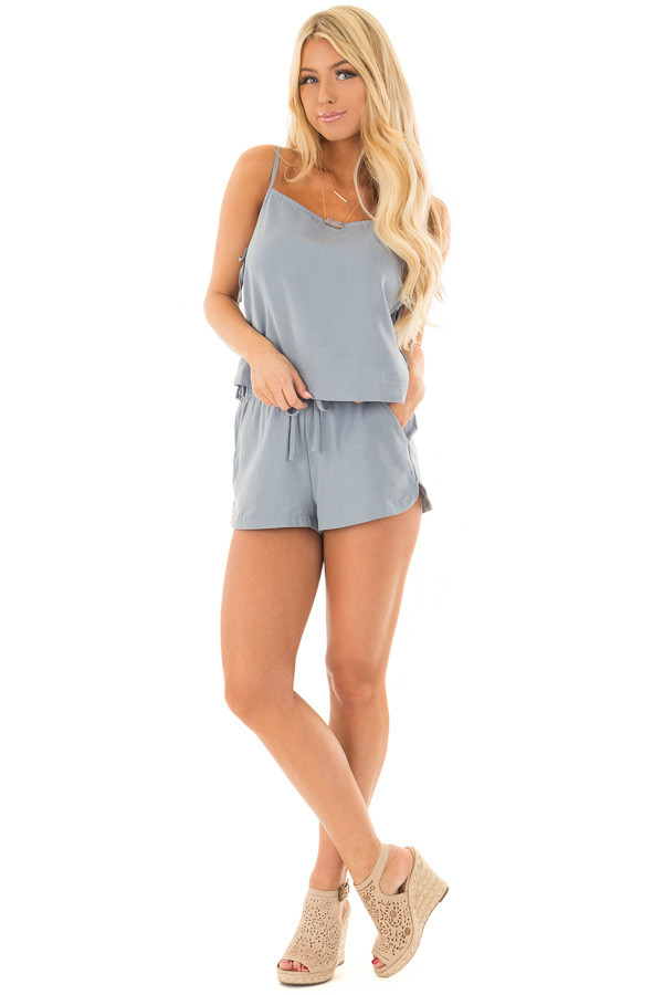 Chambray Two Piece with Side Tie Detail front full body