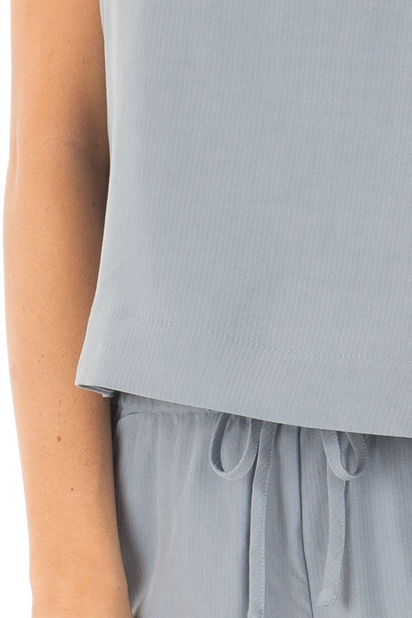 Chambray Two Piece with Side Tie Detail detail