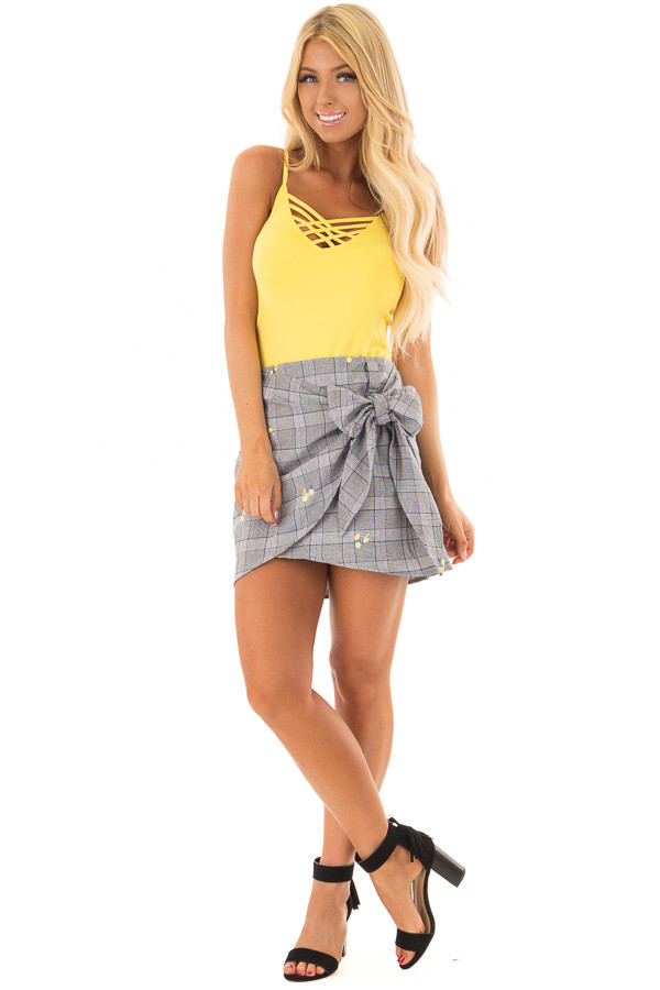 Sunshine Yellow Criss Cross Camisole front full body