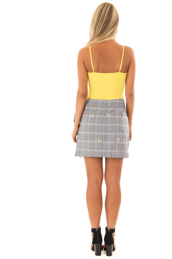 Sunshine Yellow Criss Cross Camisole back full body