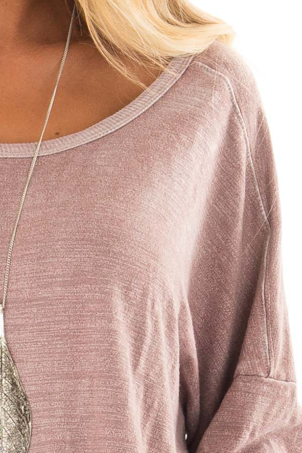 Dusty Rose Top with Open Back Detail detail