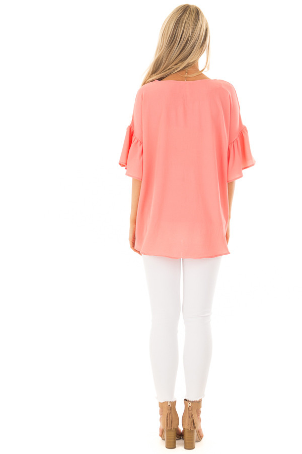 Coral Bell Sleeve Top back full body
