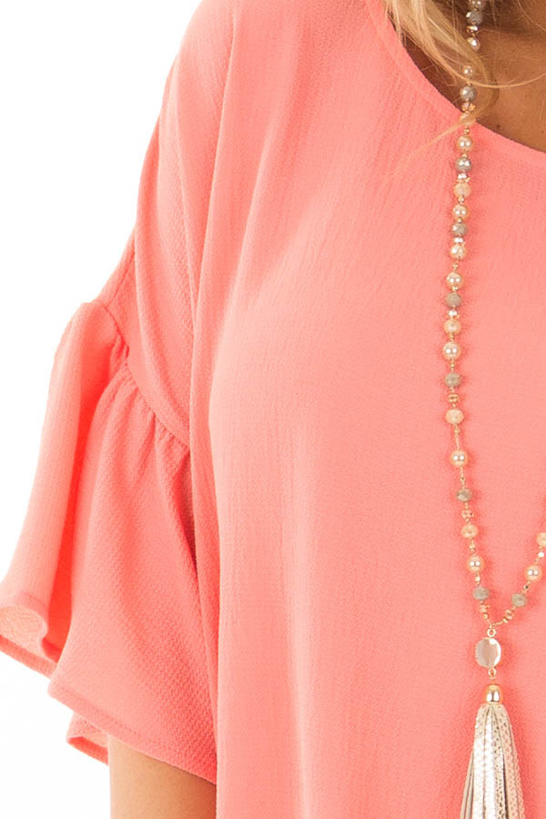 Coral Bell Sleeve Top detail