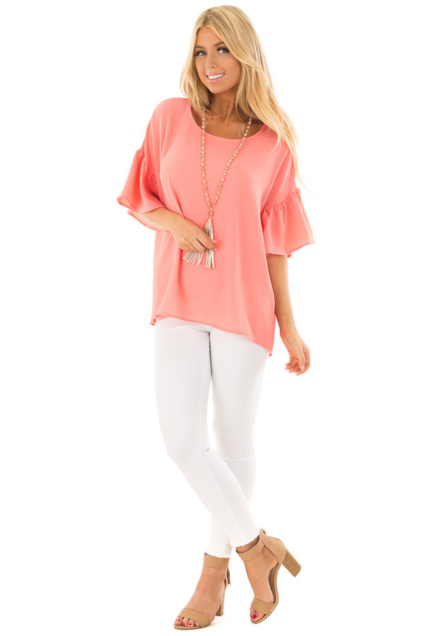 Coral Bell Sleeve Top front full body