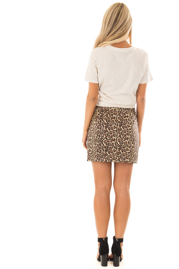 Cream Short Sleeve 'Stay Wild' Top back full body