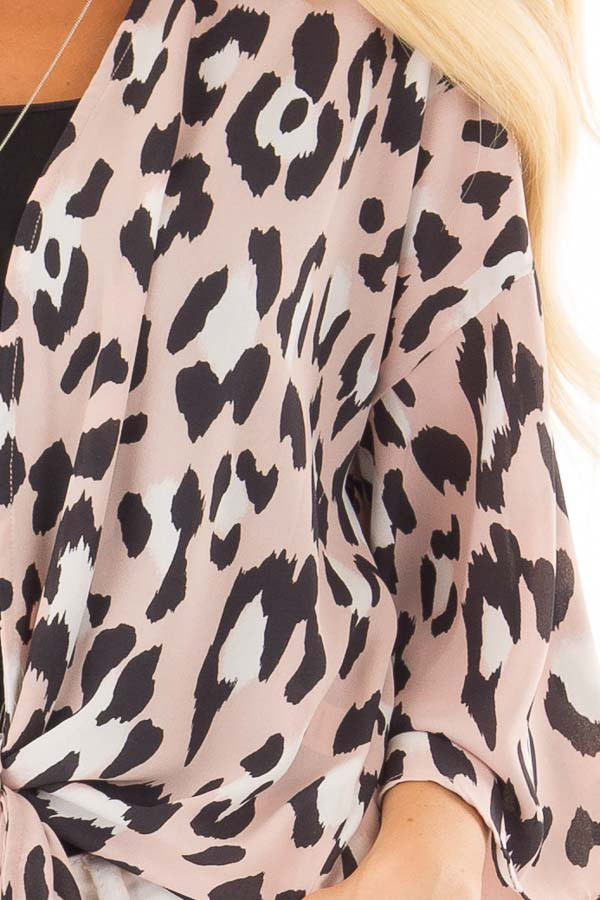 Dusty pink leopard print kimono with flare sleeves lime lush boutique dusty pink leopard print kimono with flare sleeves detail thecheapjerseys Choice Image
