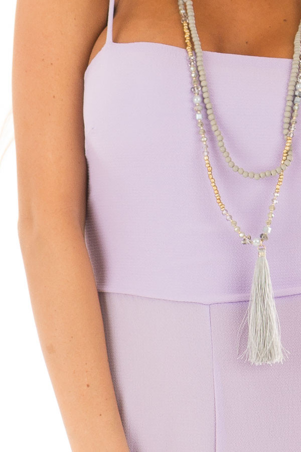 Lilac Jumpsuit with Back Tie Detail detail