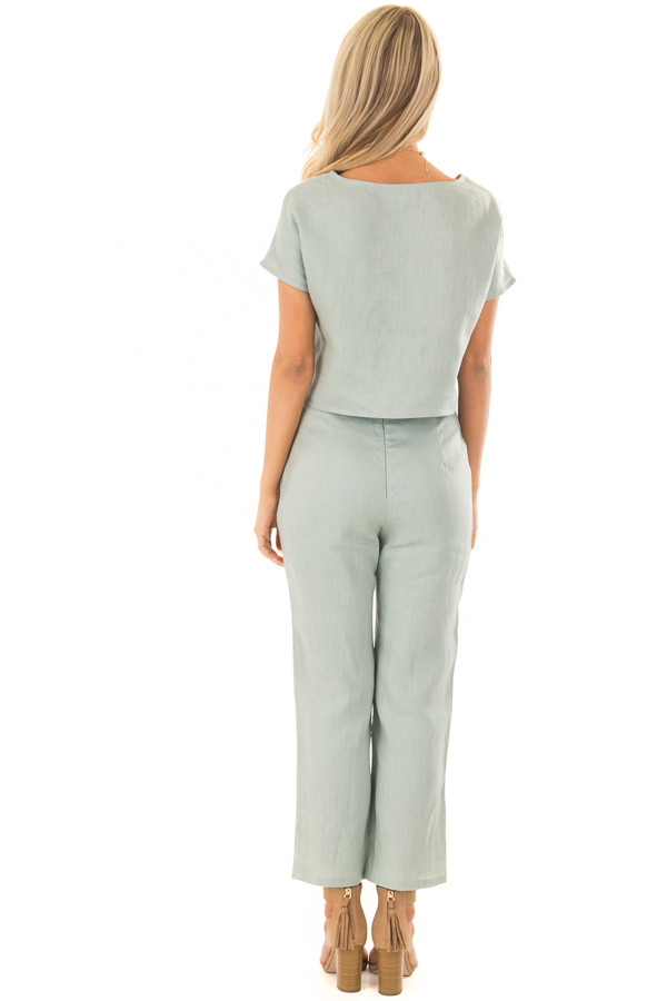 Sage Two Piece Set with Belt back full body