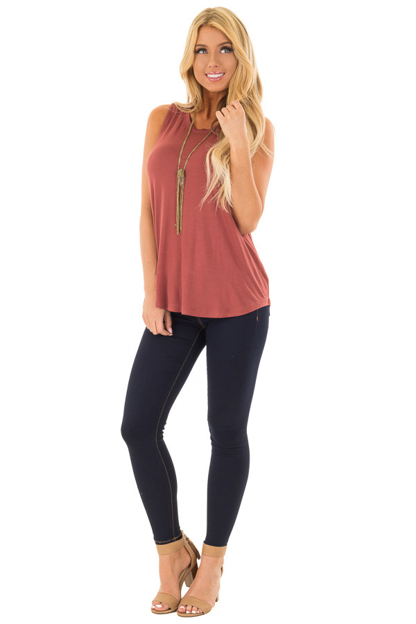 Rust Comfy Tank Top front full body