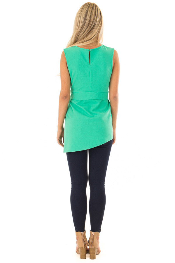 Jade Tank Top with Waist Tie Detail back full body