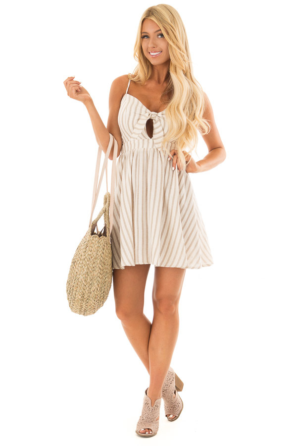 Natural Straw Circle Bag with Leather Straps front full body