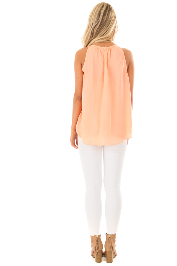 Creamsicle High Neck Tank Top back full body